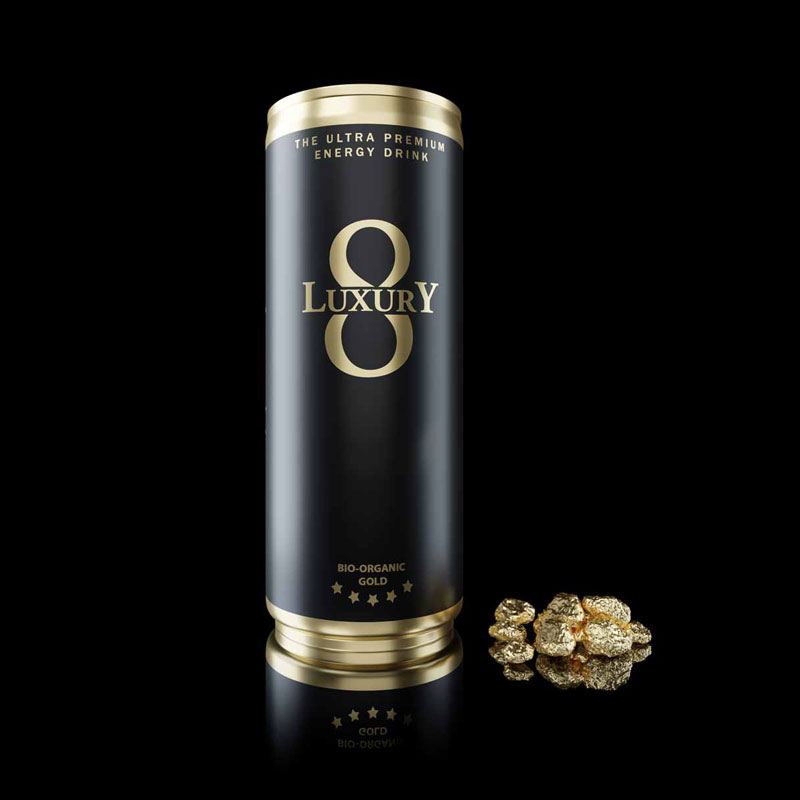 LUXURY 8 Energydrink Bio-Gold