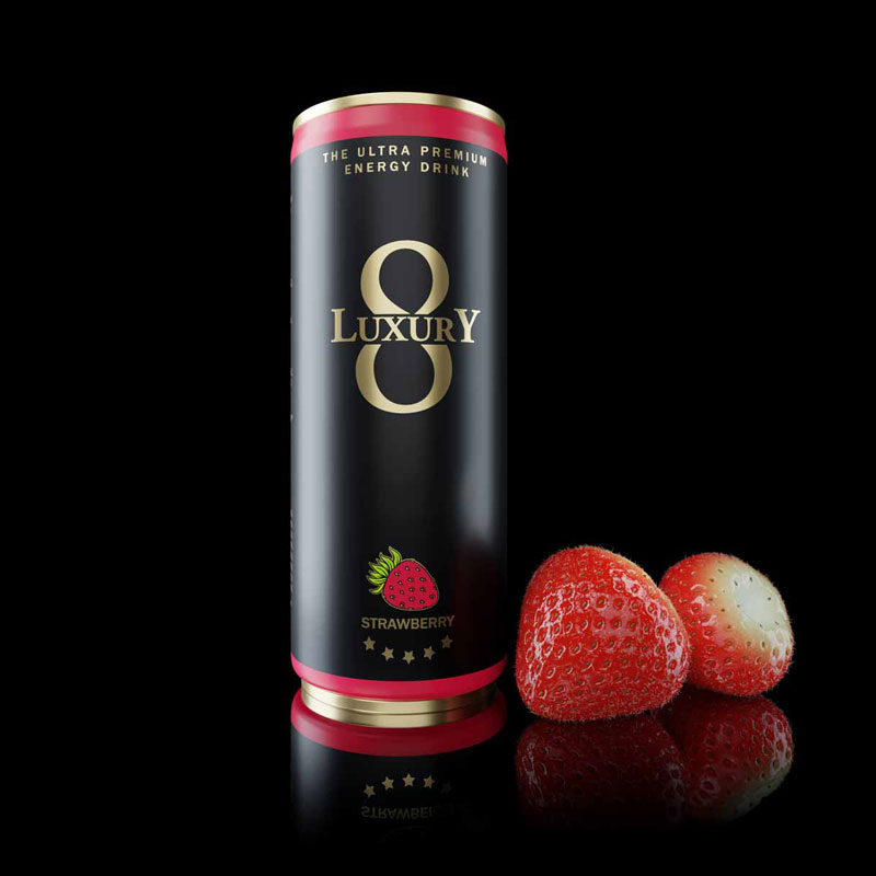 LUXURY 8 Energydrink Strawberry